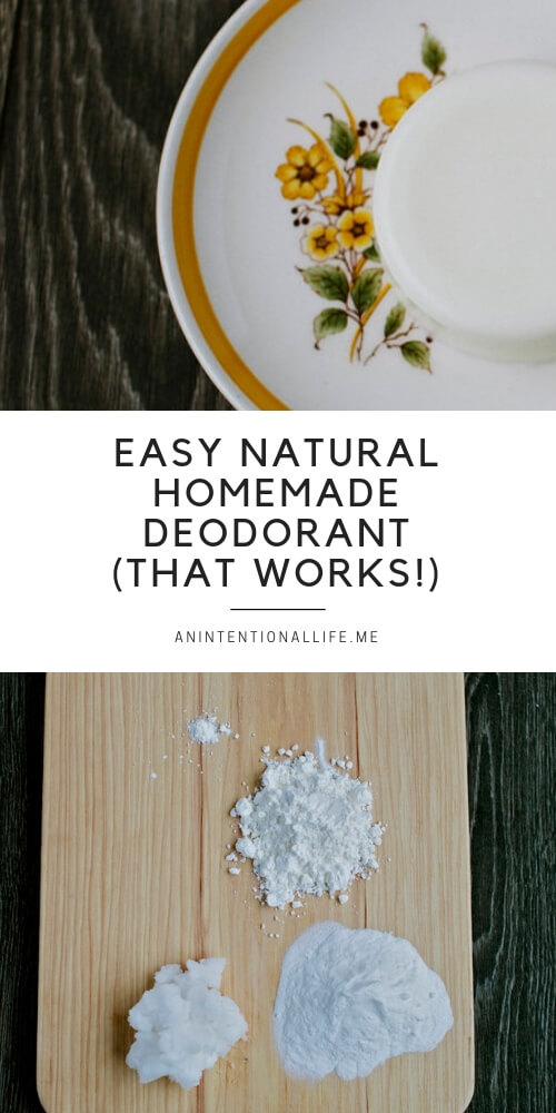 A super simple homemade natural deodorant recipe that actually works!