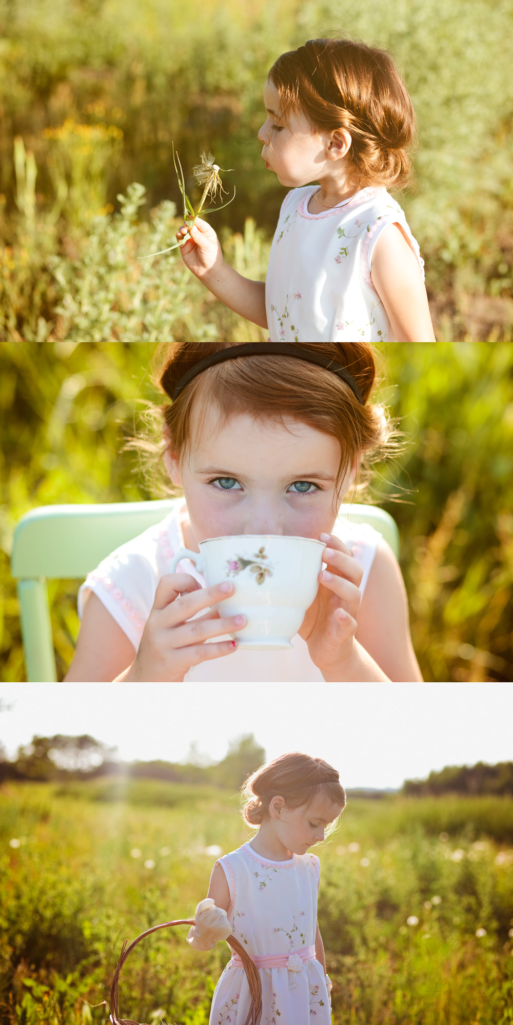 Sweet Little Girl Tea Party Photo Session