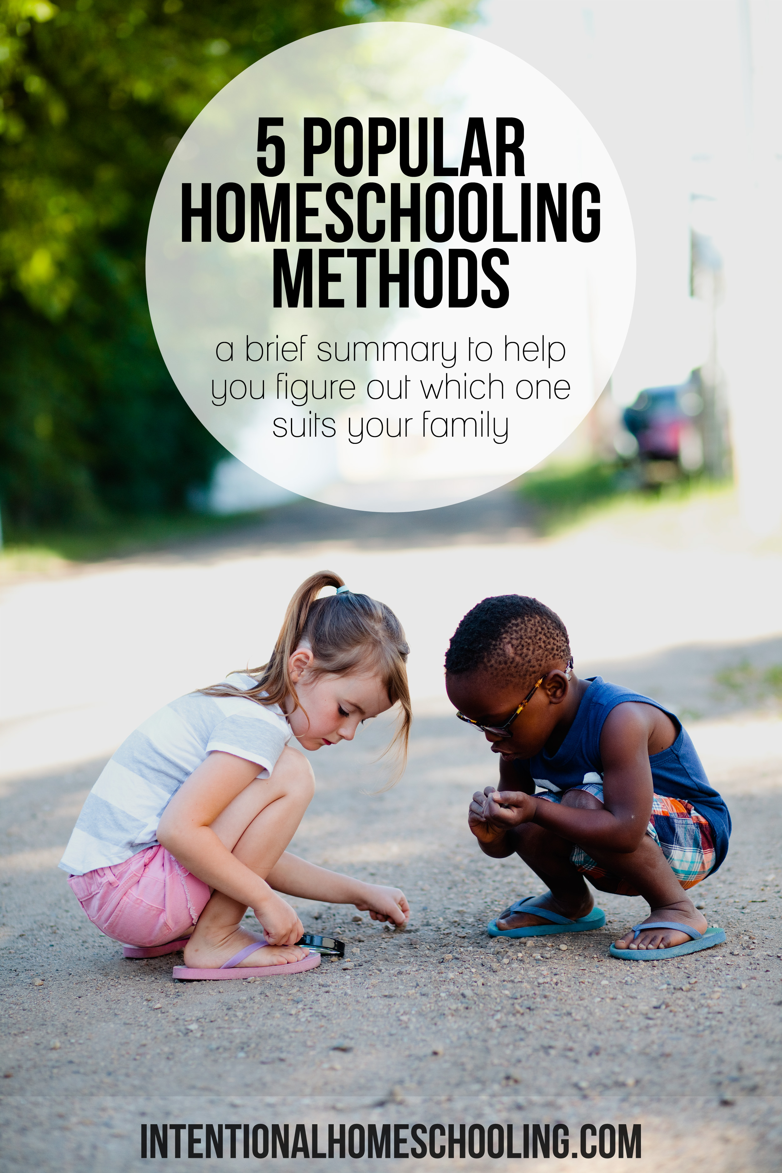 A quick summary of 5 of the most popular homeschooling methods to help you decide which one might be best for your family.