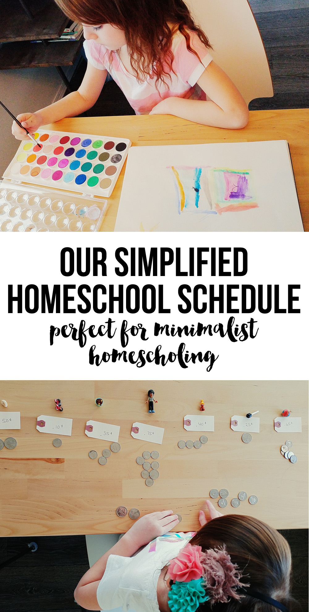 Our Simplified Weekly Homeschool Schedule - minimalist homeschooling
