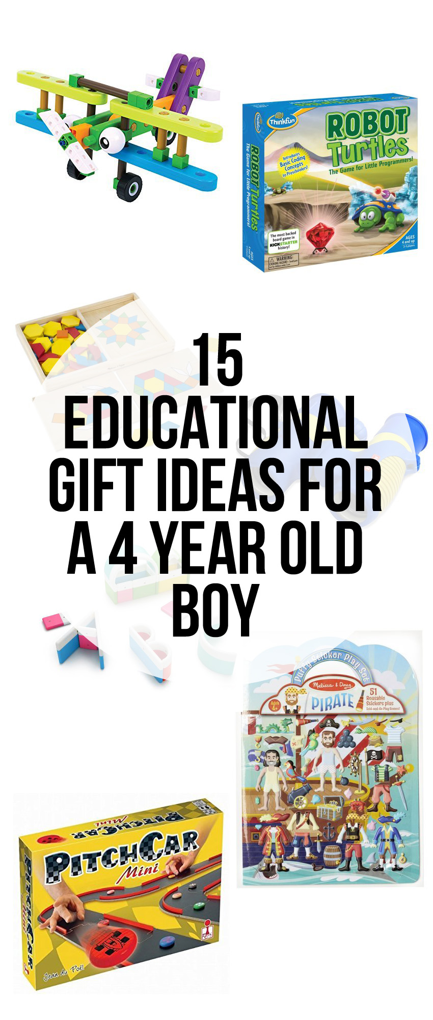 Gift Guide - 15 Educational Gift Ideas for a 4 Year Old Boy