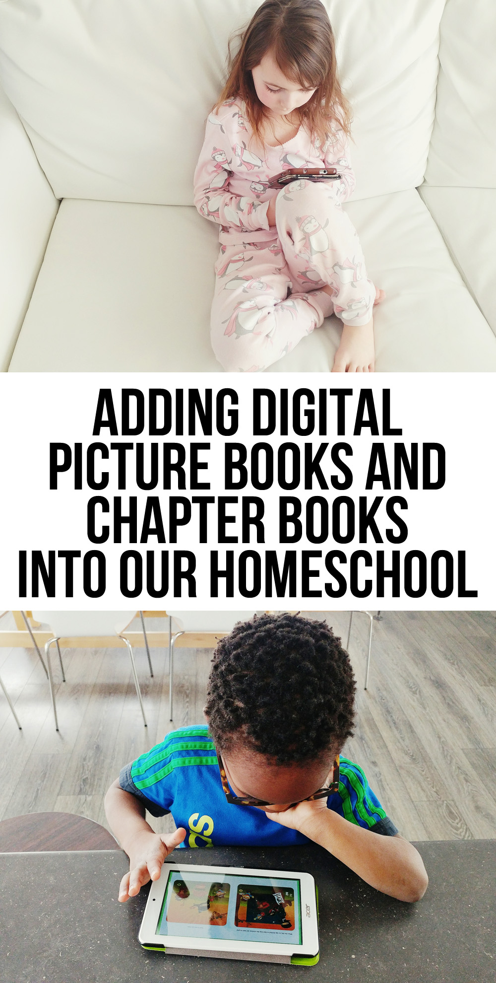 Adding Digital Picture Books and Chapter Books into Our Homeschool - what we love about ebooks in our homeschool.