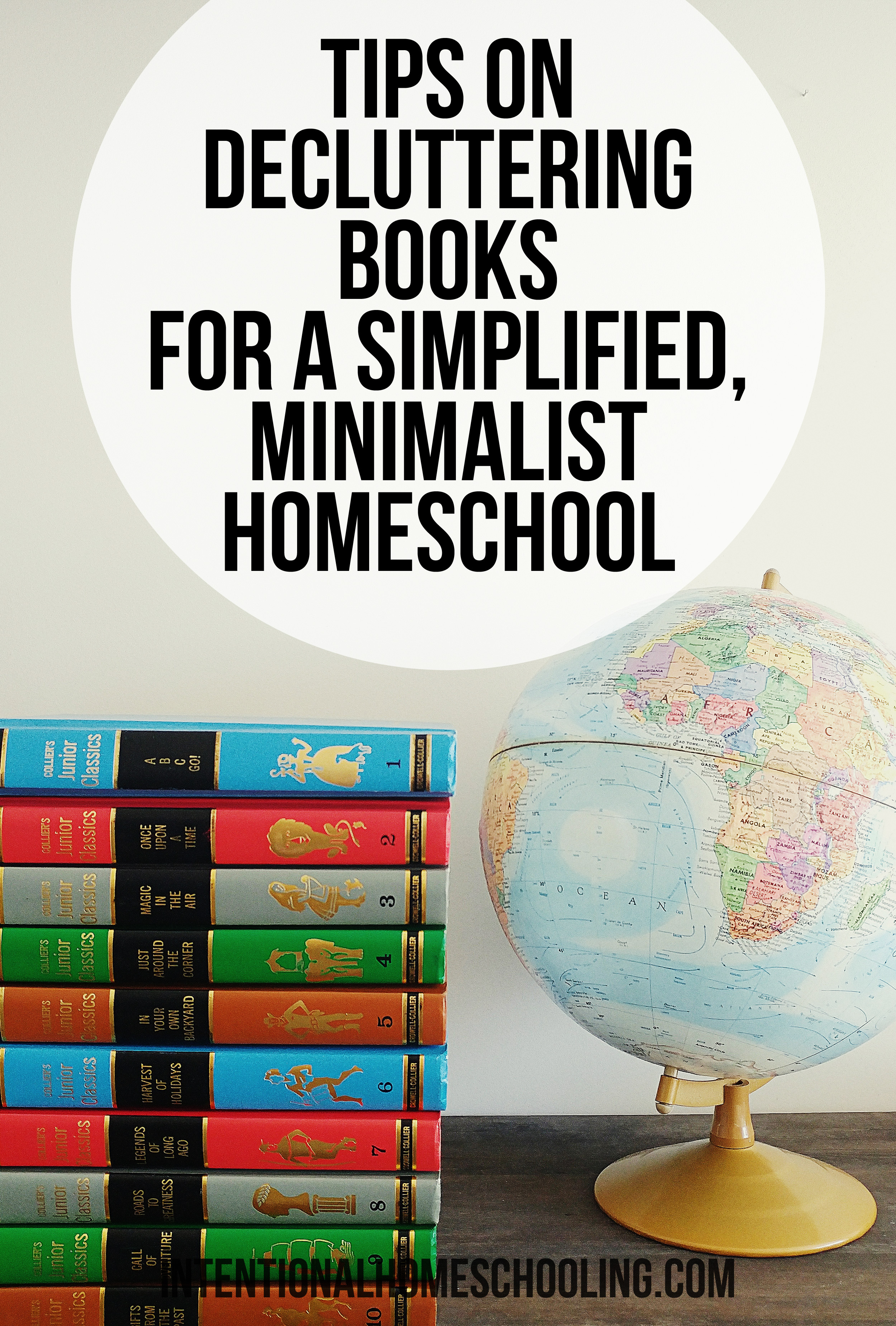 Tip on Decluttering Books for a more Simplified, Minimalist Homeschool