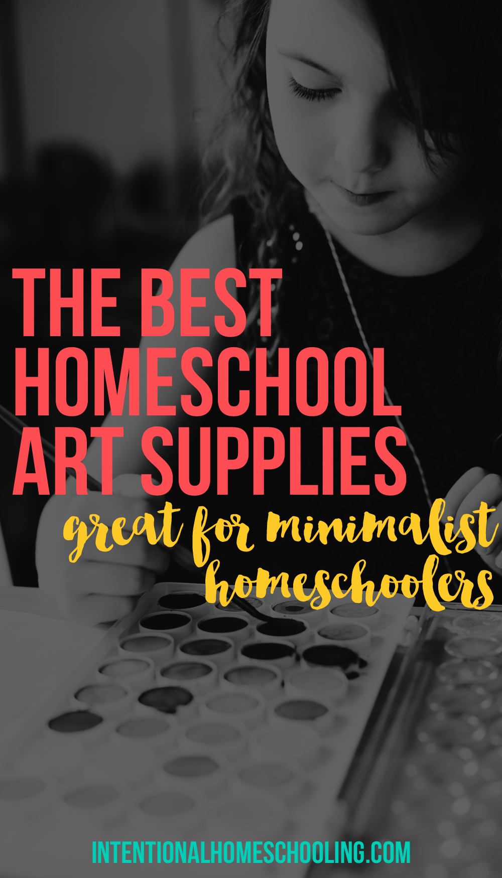 The Seven Best Homeschool Art Supplies - great for minimalist homeschooling
