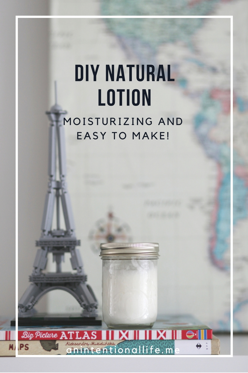 DIY Natural Lotion - simple to make
