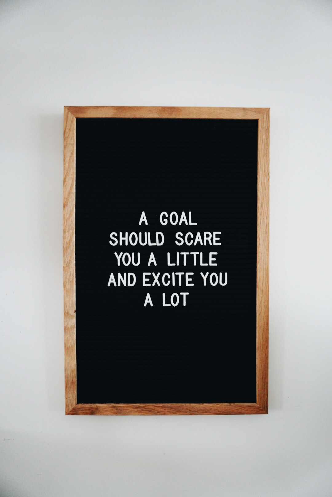 A goal should scare you a little and excite you a lot