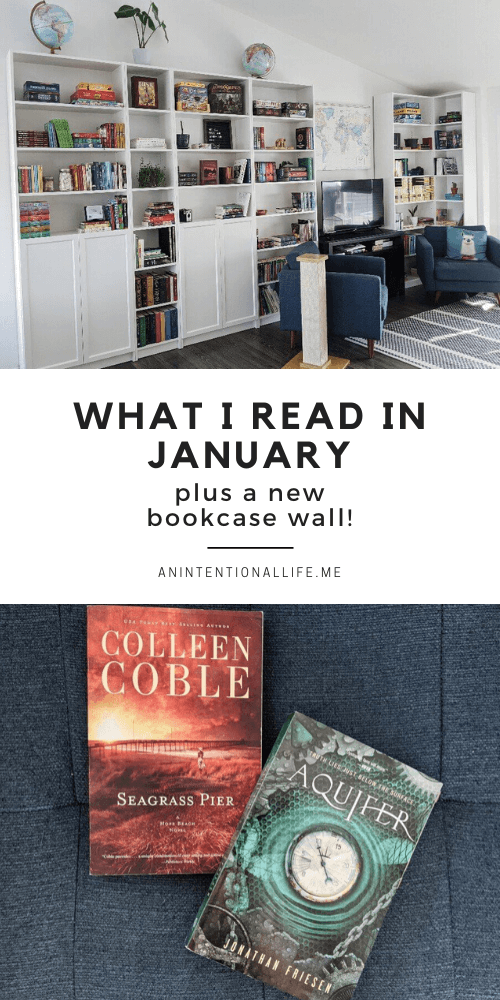 January Reading Wrap Up - middle grade, adult books, fantasy and more! Plus a bookcase wall!