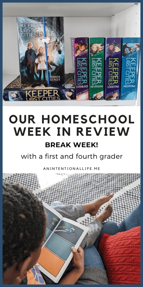 Our Homeschool Week in Review - what we did and resources we used with a first grader and fourth grader