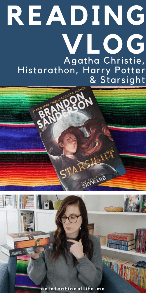 Reading Vlog - Agatha Christie, Historathon, Harry Potter & Brandon Sanderson's Starsight
