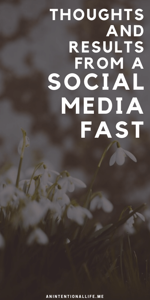 Thoughts on My Second Annual Social Media Fast