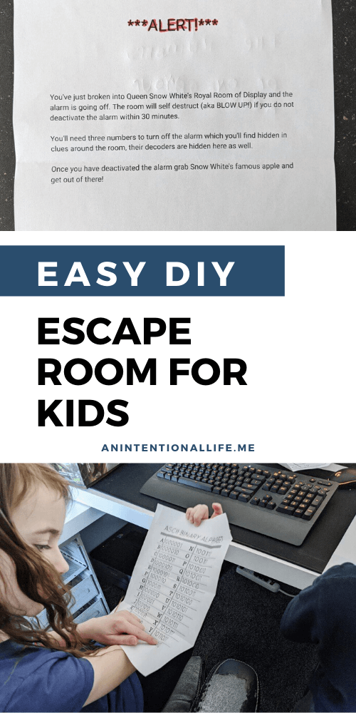 Easy DIY Escape Room for Kids