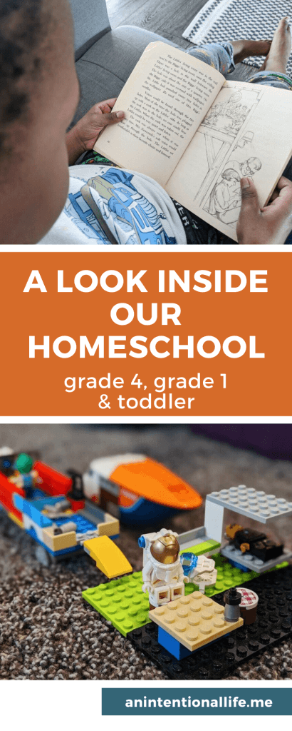 Our Homeschool Week in Review - Space Unit Resources Used - with kids in grade 4, grade 1 and a toddler