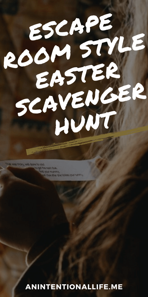 DIY Escape Room Style Easter Egg Scavenger Hunt for Kids
