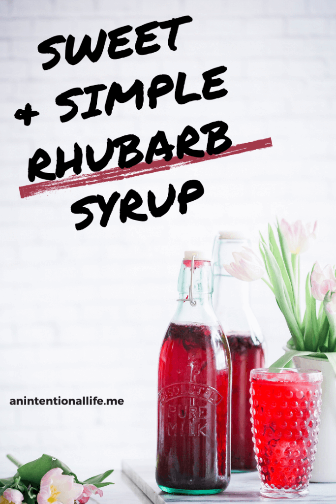 Simple and Delicious Rhubarb Syrup - great for drinks and ice cream!