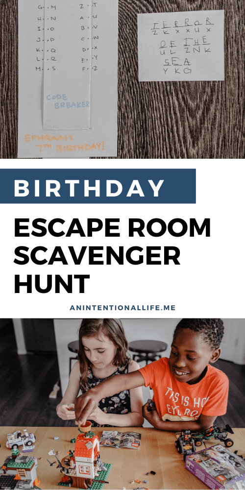 Easy DIY Birthday Escape Room Scavenger Hunt for Kids