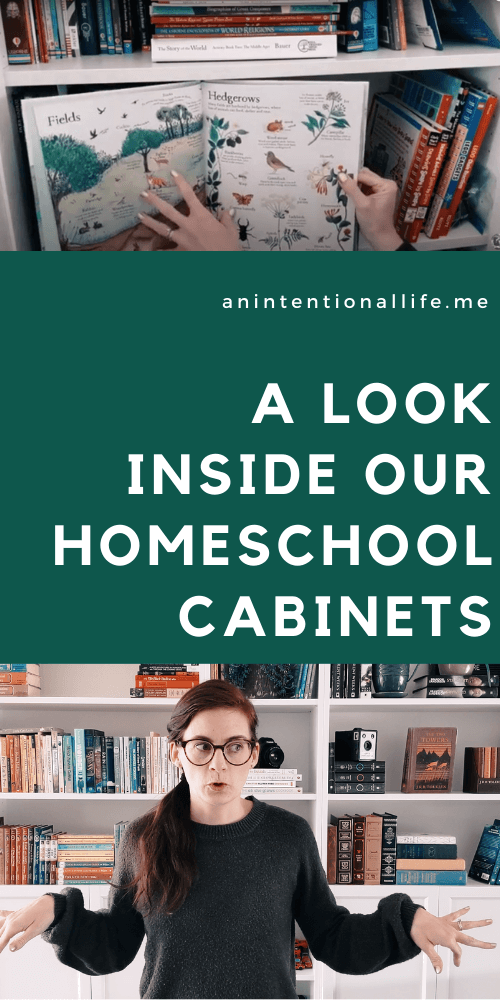 Homeschool Cabinet Tour and Sharing Our Favorite Homeschool Resources