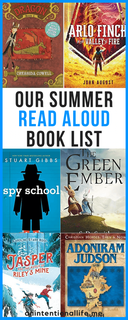 Our Elementary Summer Read Aloud Book List