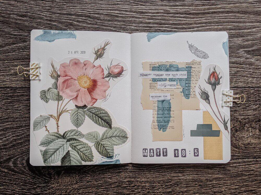 Art Journal - Mixed Media - Bible Journal Page