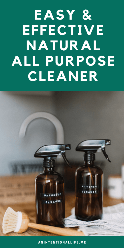 DIY Natural All Purpose Cleaner Spray - Simple to Make and Works Well!