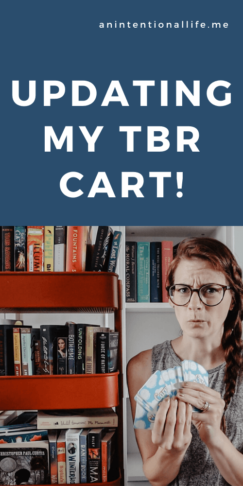 Updating My TBR Cart: adding and removing books and prompt cards for my TBR cart & TBR game cards