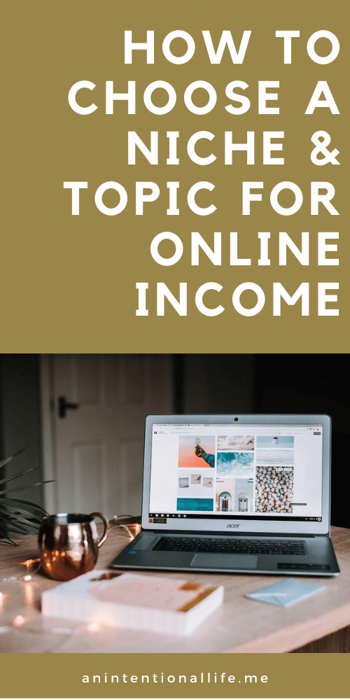 How to Choose a Niche and Topic for Online Income when you have a lot of ideas and how to set goals so you know how long to continue
