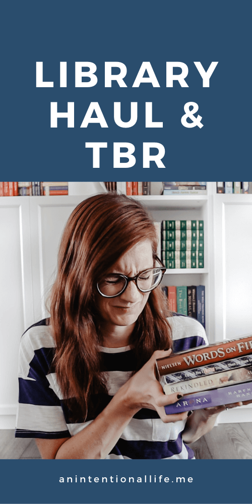 September Library Haul and TBR using my library books