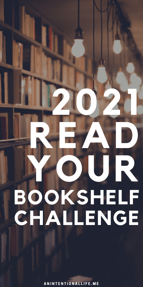 Read Your Bookshelf - A 2021 Reading Challenge with reading prompts for each month of the year - plus a $100 book giveaway