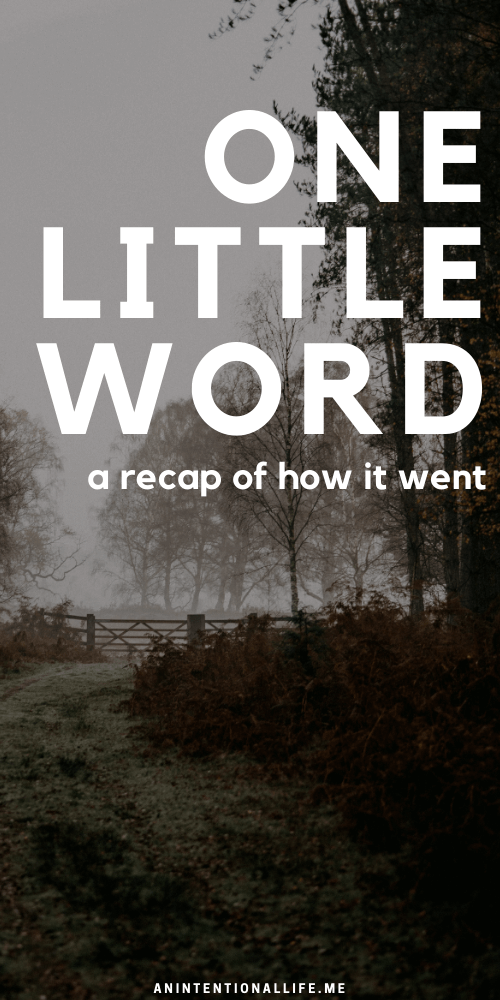 One Little Word 2020 Recap: Generous