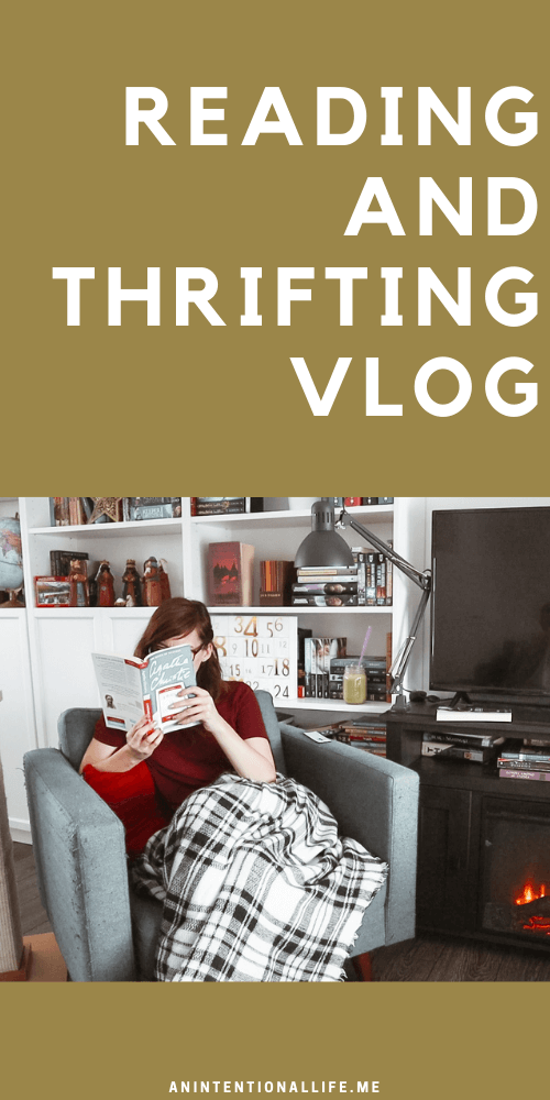 Reading and Thrifting Vlog - thrifting for good books and warm sweaters, plus a little library haul!