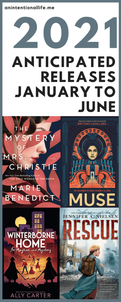 2021 ANTICIPATED RELEASES - books coming out January-June that I am excited about! - A selection of middle grade books, thrillers, mystery, Christian non-fiction, Christian fiction, historical fiction and fantasy!