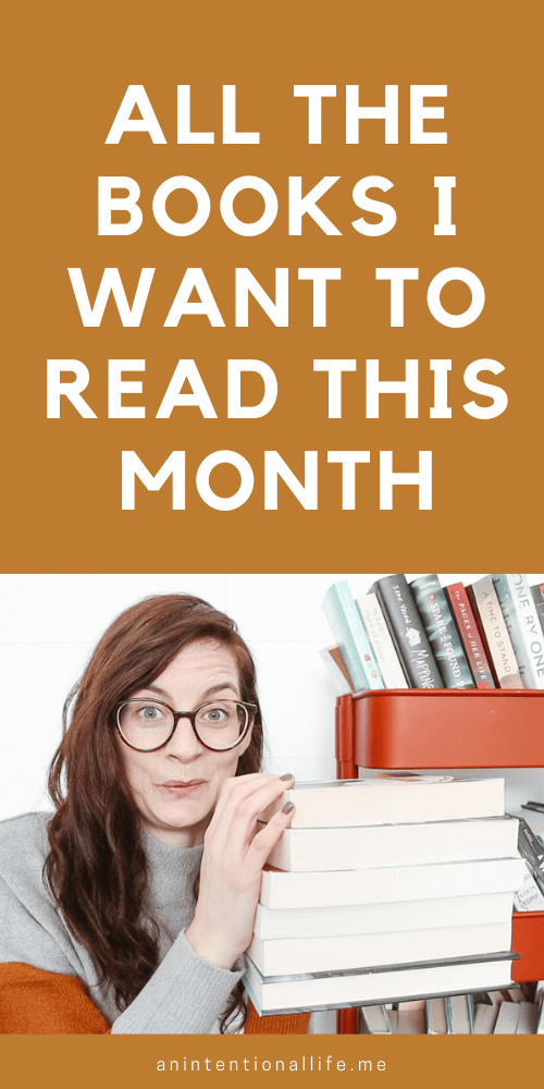 Picking my monthly TBR using a TBR game and spinning wheel and getting a big stack of books I want to read this month.
