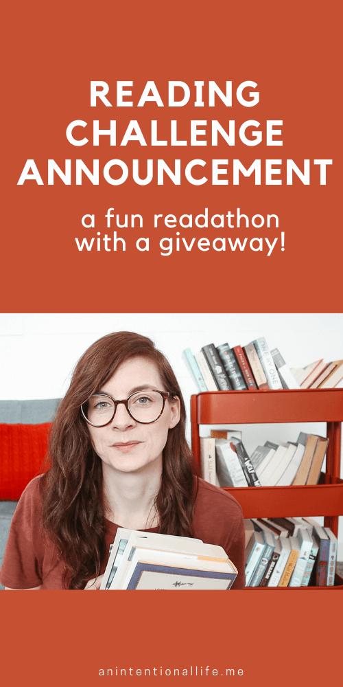 Readathon Announcement - a fun week long reading challenge in 2021