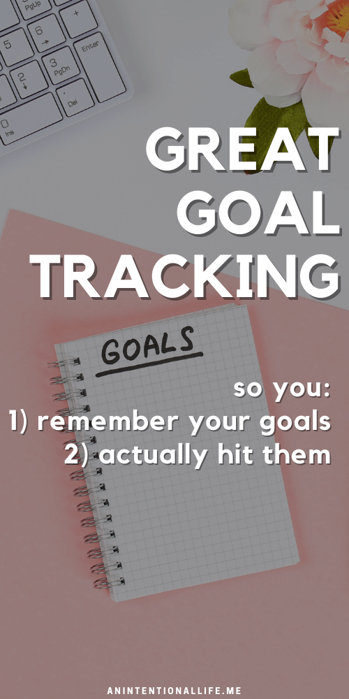 Goal Tracking: Creating Goal Tracker so you remember and hit your goals