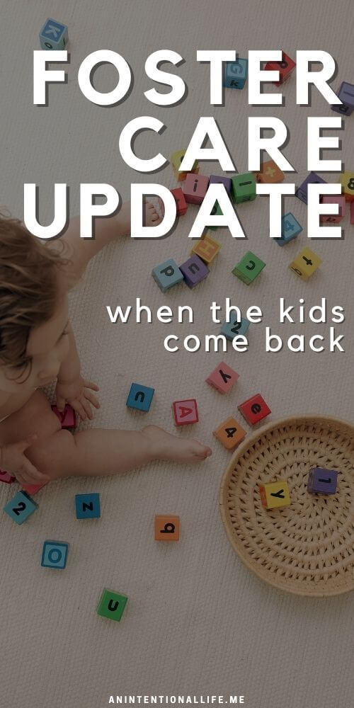 Foster Care Journey Update - When the kids come back