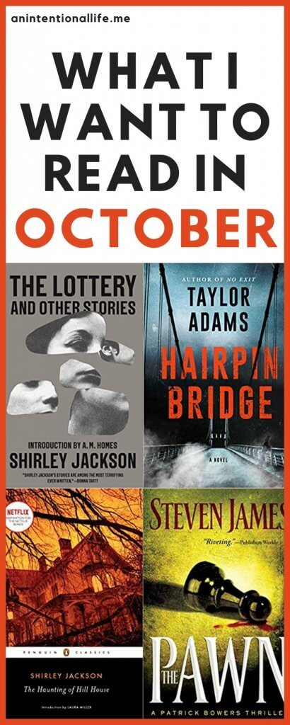 What I Plan on Reading in October - My October TBR - lots of mystery, suspense and thrillers