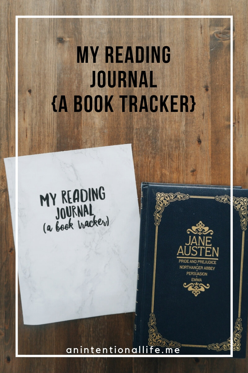 My reading journal - a printable book tracker