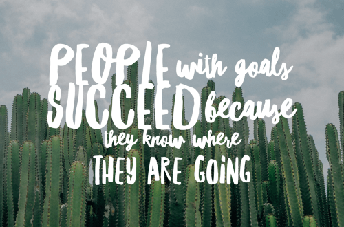 People with goals succeed because they know where they are going