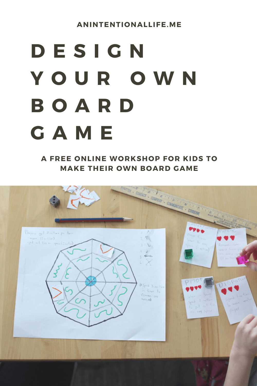 Design Your Own Board Game - a free online workshop for kids to design their own board game