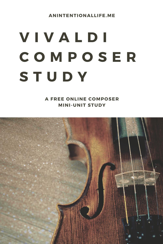 Free Vivaldi Composer Study - a free online mini unit study on Vivaldi