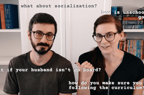 Homeschool Q & A With My Husband - what about socialization, unschooling, following the curriculum and more!