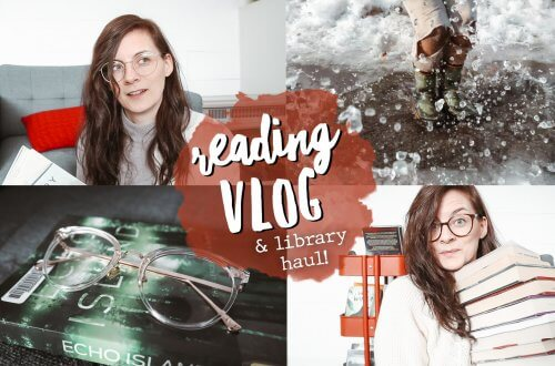 reading FIVE BOOKS IN ONE WEEK: Hey Reader-athon reading vlog + library haul + glasses from TIJN!