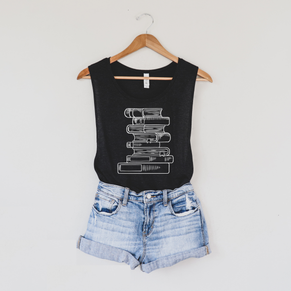 Book Stack Shirt - Shirts for Readers and Book Lovers