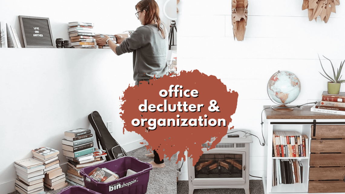 OFFICE DECLUTTER & ORGANIZATION - clean out and organize my office with me! / DECLUTTERING SERIES